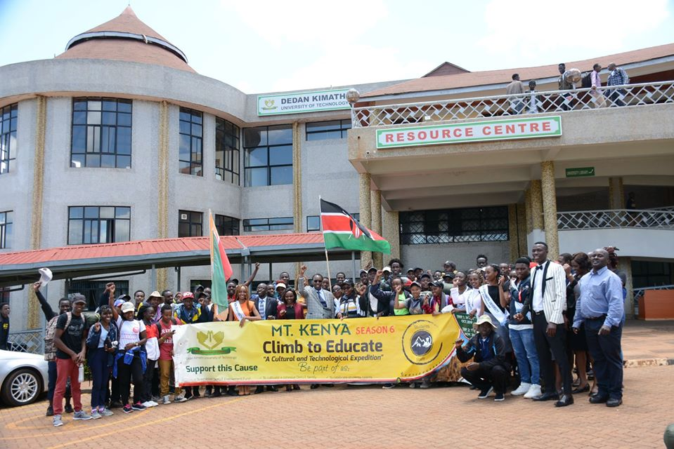 Climb to Educate Season group two summit to Mt. Kenya