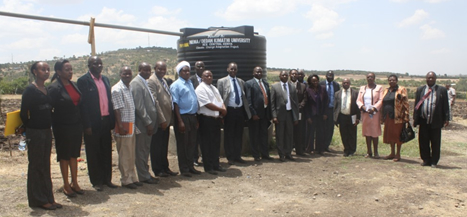 RCE Central Kenya stakeholders during a project handover ceremony in March 2015